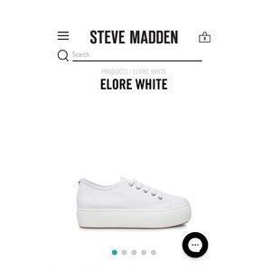 White Steve Madden Platforms !